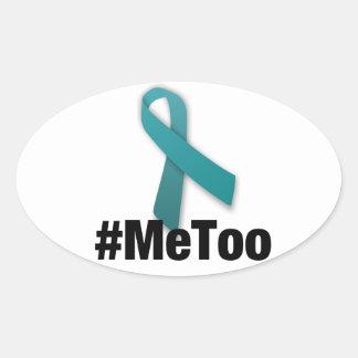 #MeToo Ontwerp met Lint Ovale Sticker