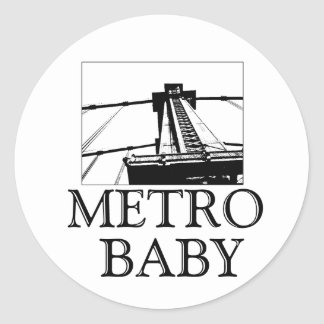 Metro Baby Stckers Ronde Sticker