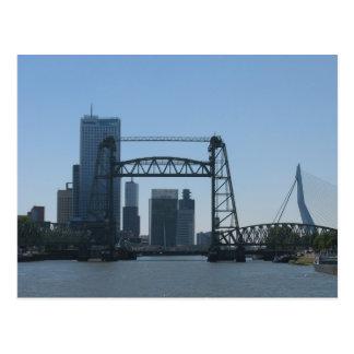 Meuse van de Bruggen van Rotterdam het Briefkaart
