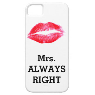 Mevr. Always Right Funny Barely There iPhone 5 Hoesje