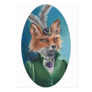 Mevr. Fox Postcard Animal Postcard Victoriaans Vos Briefkaart