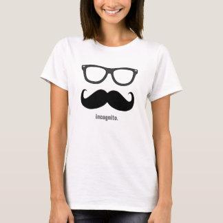 Mevr. incognito - grappige snor en schaduwen t shirt