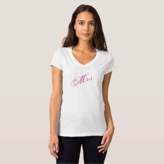 Mevr. T-Shirt voor de Nieuwe Bruid of de Vrouw