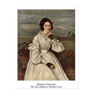 Mevrouw Charmois door Jean-Baptiste Camille Corot Briefkaart