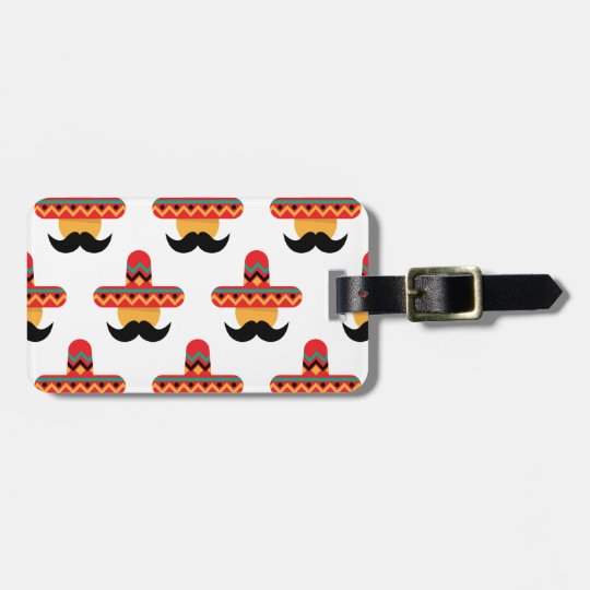 Mexcan moustache kofferlabels