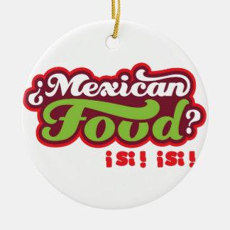 MEXICAANS VOEDSEL ROND KERAMISCH ORNAMENT