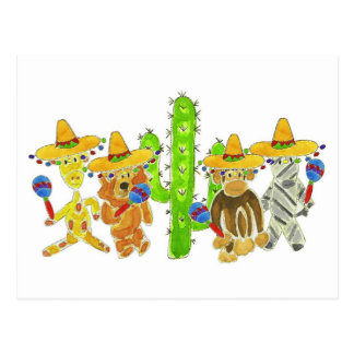 Mexicaanse Fiesta Critters Briefkaart
