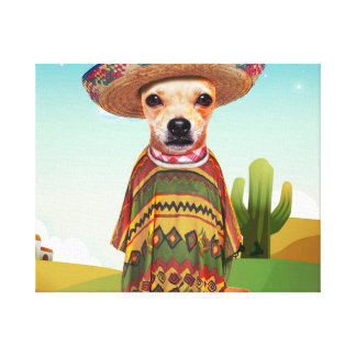 Mexicaanse hond, chihuahua canvas afdruk