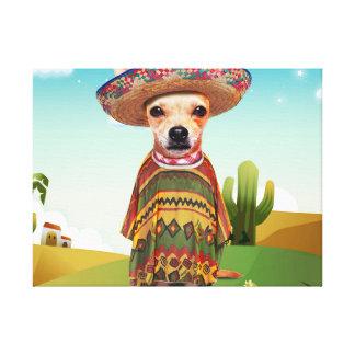 Mexicaanse hond, chihuahua canvas print