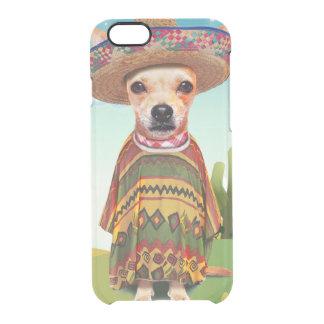 Mexicaanse hond, chihuahua doorzichtig iPhone 6/6S hoesje