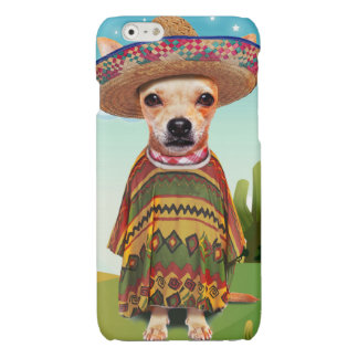 Mexicaanse hond, chihuahua iPhone 6 hoesje glanzend