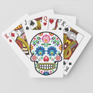 Mexicaanse suikerschedel, Poolse volkskunststijl Speelkaarten