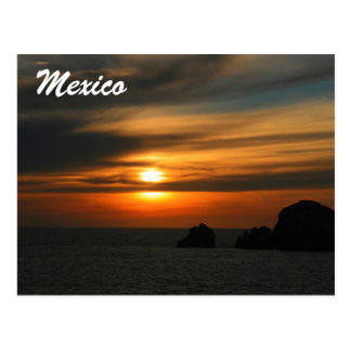 Mexicaanse zonsondergang briefkaart