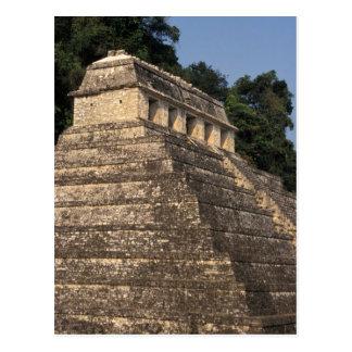 Mexico, Chiapas provincie, Palenque. Tempel van 2 Briefkaart