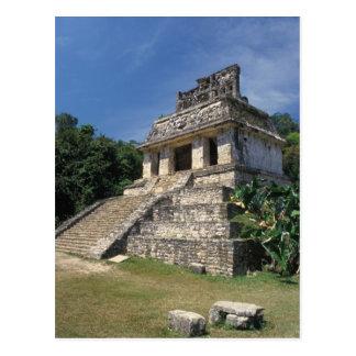 Mexico, Chiapas provincie, Palenque. Tempel van Briefkaart