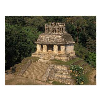 Mexico, Chiapas provincie, Palenque, Tempel van Briefkaart