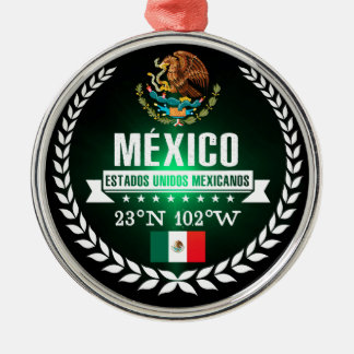 Mexico Zilverkleurig Rond Ornament