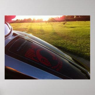 MIA/POW grafisch op Harley in Begraafplaats Poster