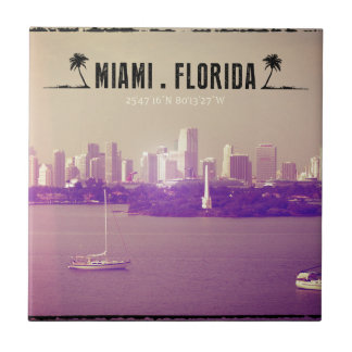 Miami Florida Tegeltje Vierkant Small