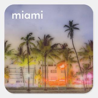 Miami STRAND Vierkante Sticker