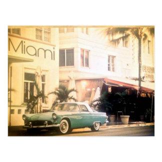 Miami-zuid strand briefkaart