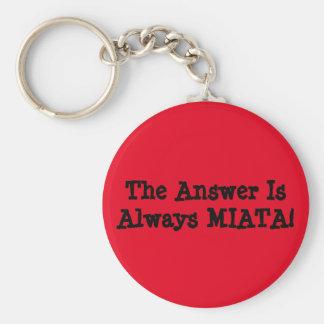 """Miata Keychain: Het """"antwoord is altijd MIATA! """" Sleutelhanger"""