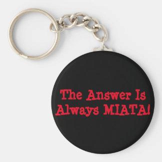 Miata Keychain: Het antwoord is altijd MIATA! Sleutelhanger