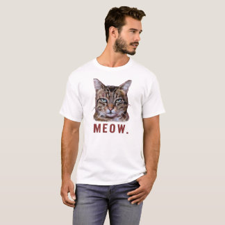 """Miauw."" Bored kat. grappige, leuke, originele T Shirt"