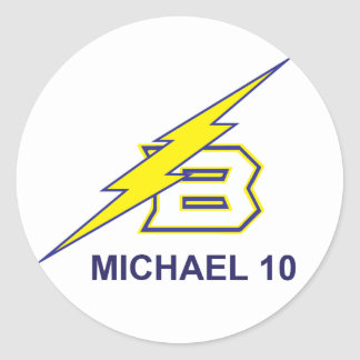 MICHAEL 10 RONDE STICKER