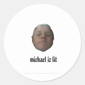 michael iz stak stickers aan