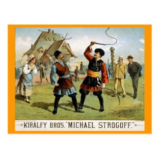 """""""Michael Strogoff"""" Vintage Theater Briefkaart"""