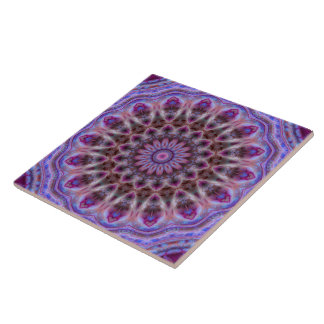 Michaelmas Daisy Luxe Mandala Tile Tegeltje Vierkant Large