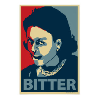 Michelle Bitter Obama -: Ohp- Poster