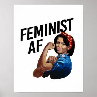 Michelle Obama - Feministische AF -- Poster