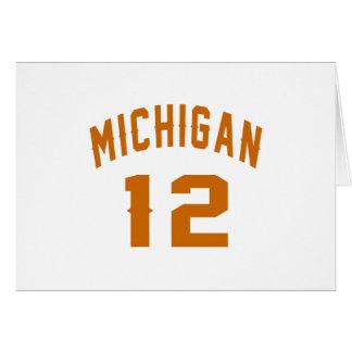 Michigan 12 Design van de Verjaardag Briefkaarten 0