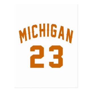 Michigan 23 Design van de Verjaardag Briefkaart