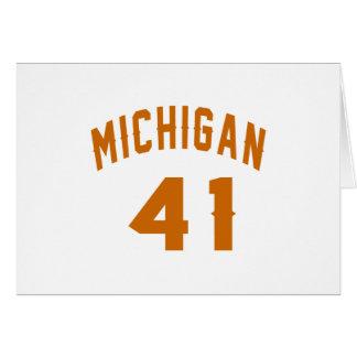 Michigan 41 Design van de Verjaardag Briefkaarten 0