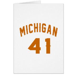 Michigan 41 Design van de Verjaardag Kaart
