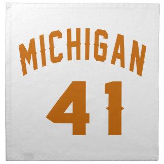 Michigan 41 Design van de Verjaardag Katoenen Servet