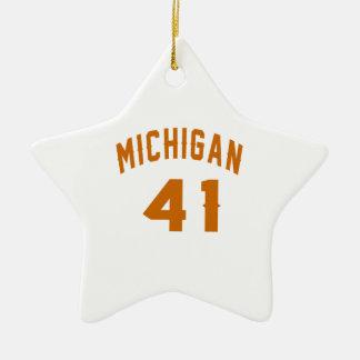 Michigan 41 Design van de Verjaardag Keramisch Ster Ornament