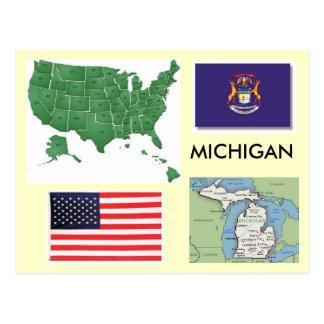 Michigan, de V.S. Briefkaart