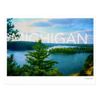 Michigan uitzicht van de rivier van de briefkaart