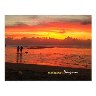 Micro- Strand, Briefkaart Saipan