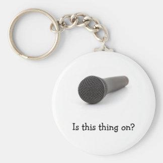 Microfoon Basic Ronde Button Sleutelhanger
