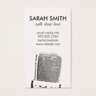 Microfoon/Vermaak Visitekaartjes