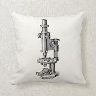 Microscoop van de Wetenschap van vintage Sierkussen