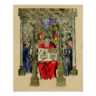 Middeleeuws Boek van Alchimie Perfect Poster