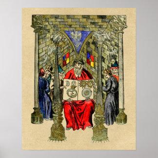 Middeleeuws Boek van Alchimie Poster
