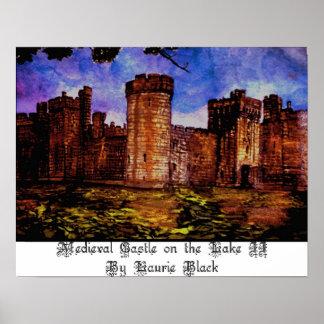 Middeleeuws Kasteel op Meer II Poster
