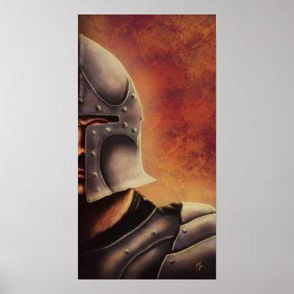 middeleeuws ridderposter poster